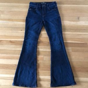High-rise flare express jeans